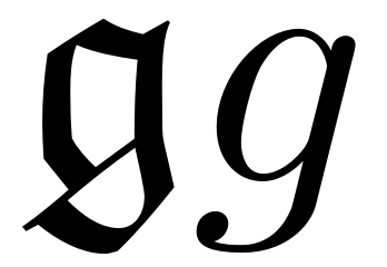 Figure 2 The Letter G In Fraktur And Ordinary Mathematics Typeface