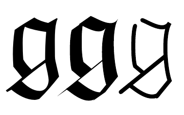 Figure 3 The Fraktur G Original Font As If With A Calligraphic Pen And Skeleton